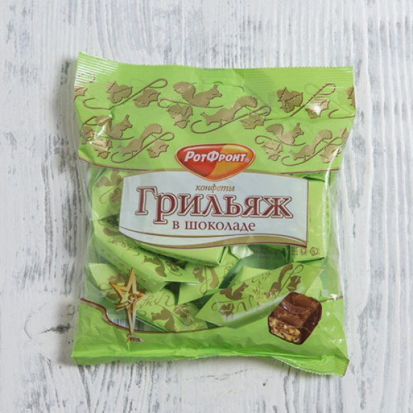 Конфеты Грильяж в шоколаде 200г