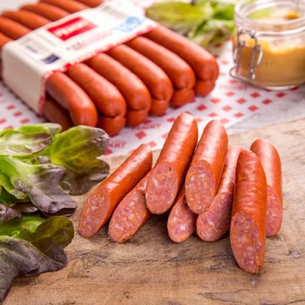 Колбаски полукопченые Кабаносси в нат. оболочке Ремит 380г