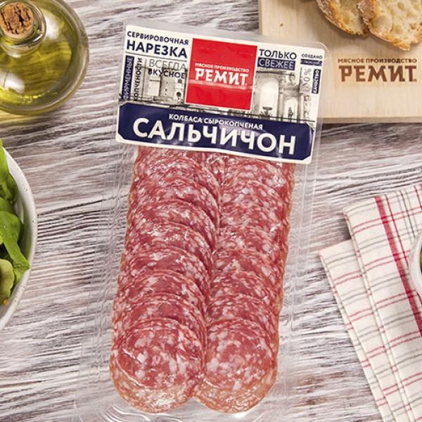 Нарезка колбаса с/к Сальчичон Ремит 70г