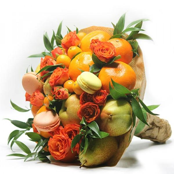 Букет из фруктов Цитрус романтик