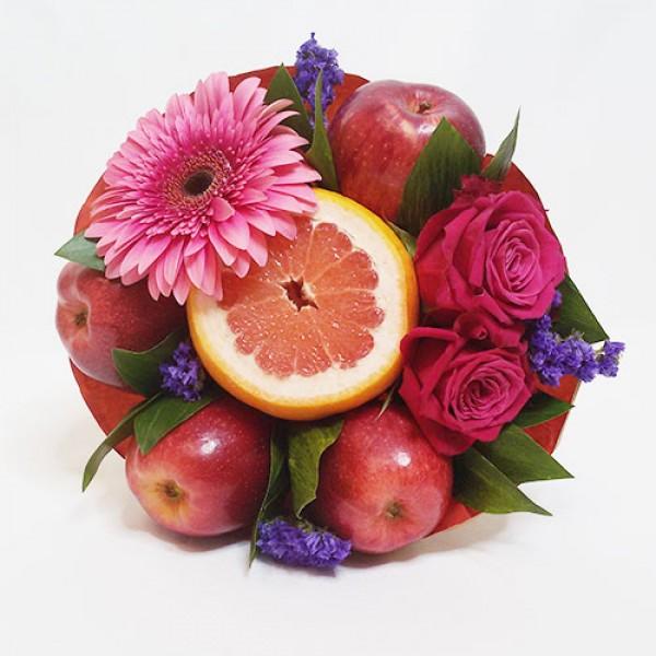 Букет из фруктов Школьная ромашка