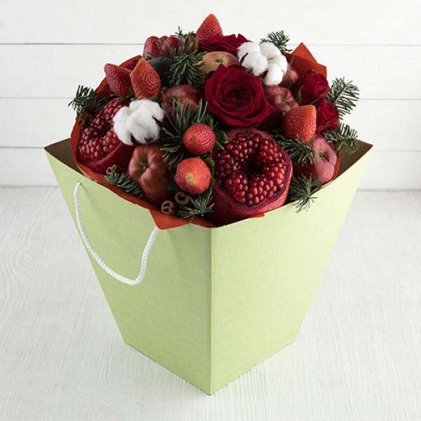 Букет из фруктов Алый новый год