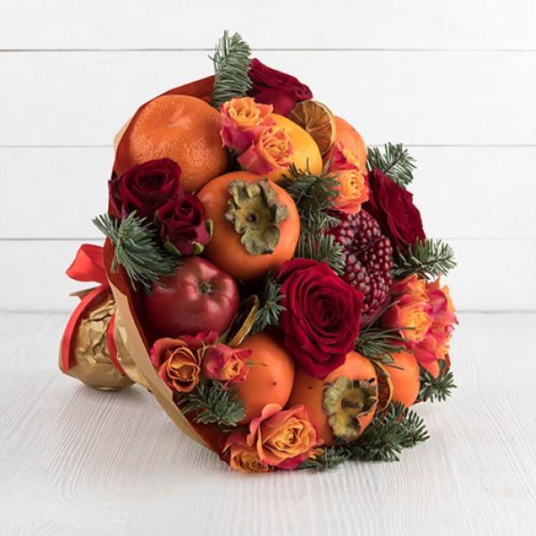 Букет из фруктов Снежинка
