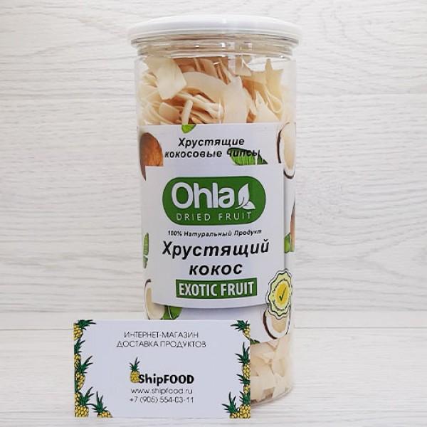 Кокос сушеный Ohla Ола чипсы 300 г в банке