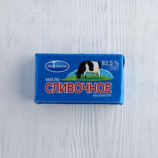Масло сливочное Экомилк  82,5% 180г