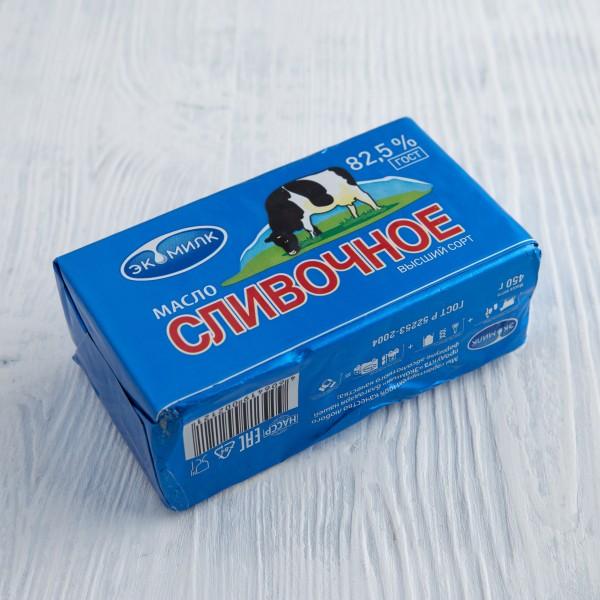 Масло сливочное Экомилк  82,5% 450г