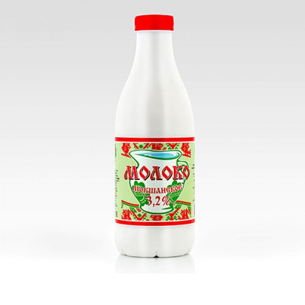 Молоко Мокшанское пастеризованное 3.2% 930г