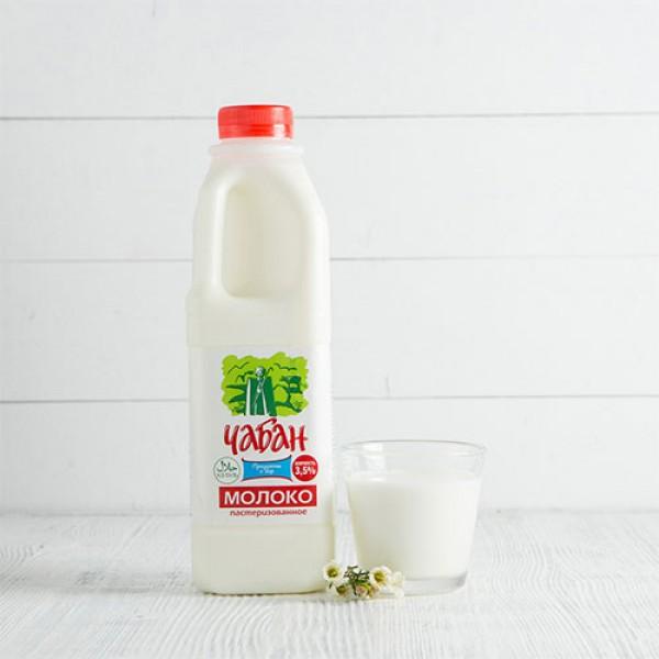 Молоко пастеризованное Чабан 3,5% 1000г