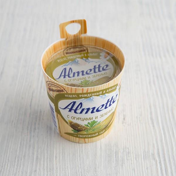 Творожный сыр Almette с огурцами и зеленью